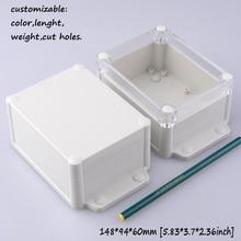 """[2 вида стилей] 148*94*60 мм Настенный алюминиевый корпус для электроники IP68 водонепроницаемый пластиковый годный для использования вне помещения корпус из АБС-пластика """"Сделай сам! распределительная коробка"""