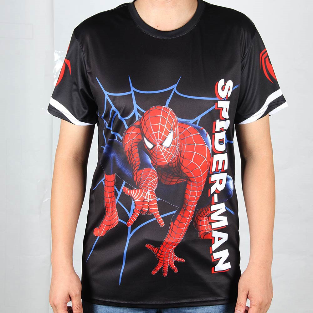latest men t shirts spiderman tiger leopard top tees hip hop tshirts breathable o neck tops tee. Black Bedroom Furniture Sets. Home Design Ideas