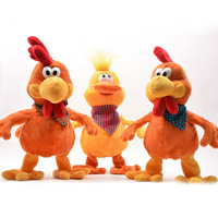 Electronic Chicken Pet Robot Chicken Frog Toys With Sound Music Dance Electronic Pets Plush Toys For Children Birthday Gifts