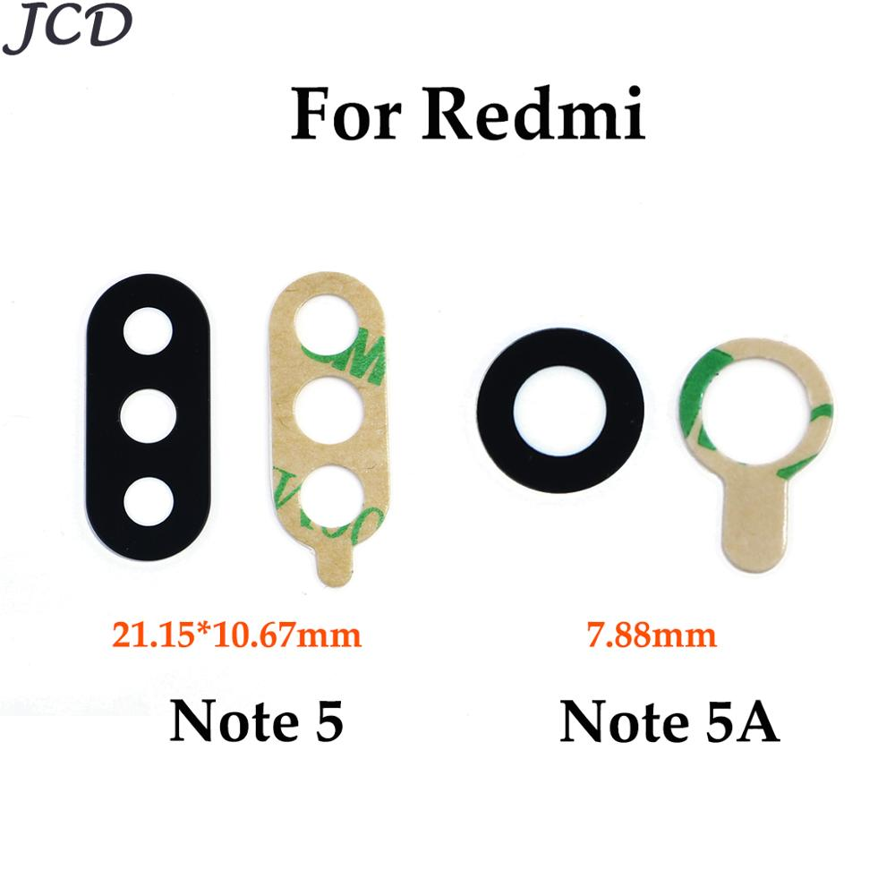 JCD Rear Back Camera Lens Glass Cover For Xiaomi Redmi Note 5 Note5 / For Redmi Note 5A With Adhesive Sticker Repair Parts