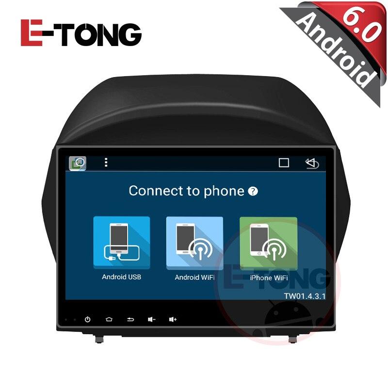 2din en el tablero de 1.6 Ghz quad core pure android 6.0 Para Hyundai ix35 car r