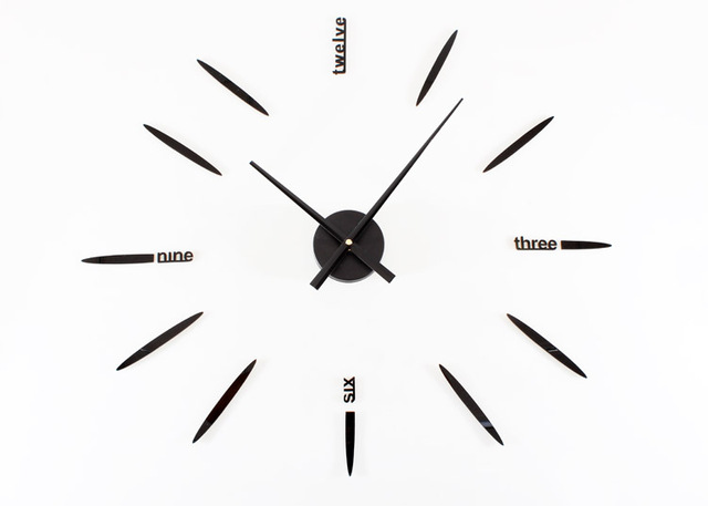 New creativ fashion DIY Simple oversized wall clock modern clocks and creative clock art wall clock charts saat despertador