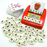So Easy Kids Learning English Card Word Scrabble Teach Educational Toy Fun Gift Learning Maching Toys