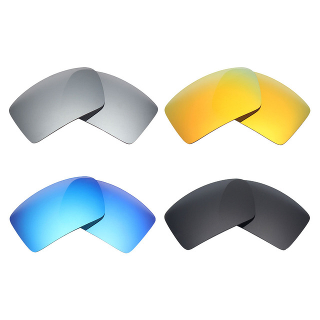 dc9018f106a 4 Pairs MRY POLARIZED Replacement Lens for Oakley Eyepatch 1 2 Sunglasses  Stealth Black   Ice Blue