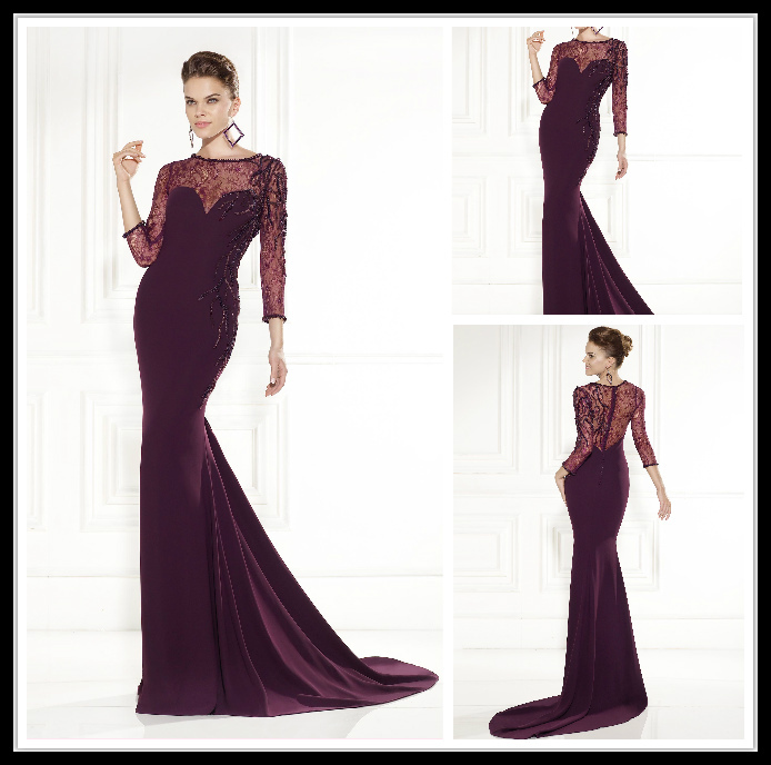 Aliexpress.com : Buy 2015 New Sexy Mermaid Dark Purple Prom ...
