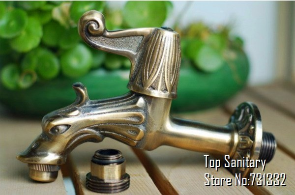 Aliexpresscom Buy TB9002 Antique bronze Dragon tap Animal shape