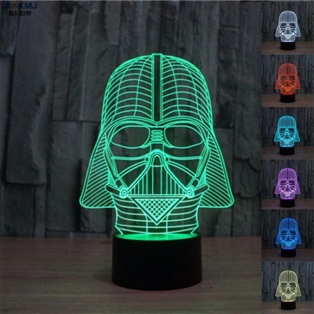 Star Wars Lamp Darth Vader Anakin Skywalker 3D Lamp Novelty Night Lights USB Light Glowing Child's Gift  Bedroom LED светильник декоративный 3dlightfx sw darth vader saber 3d