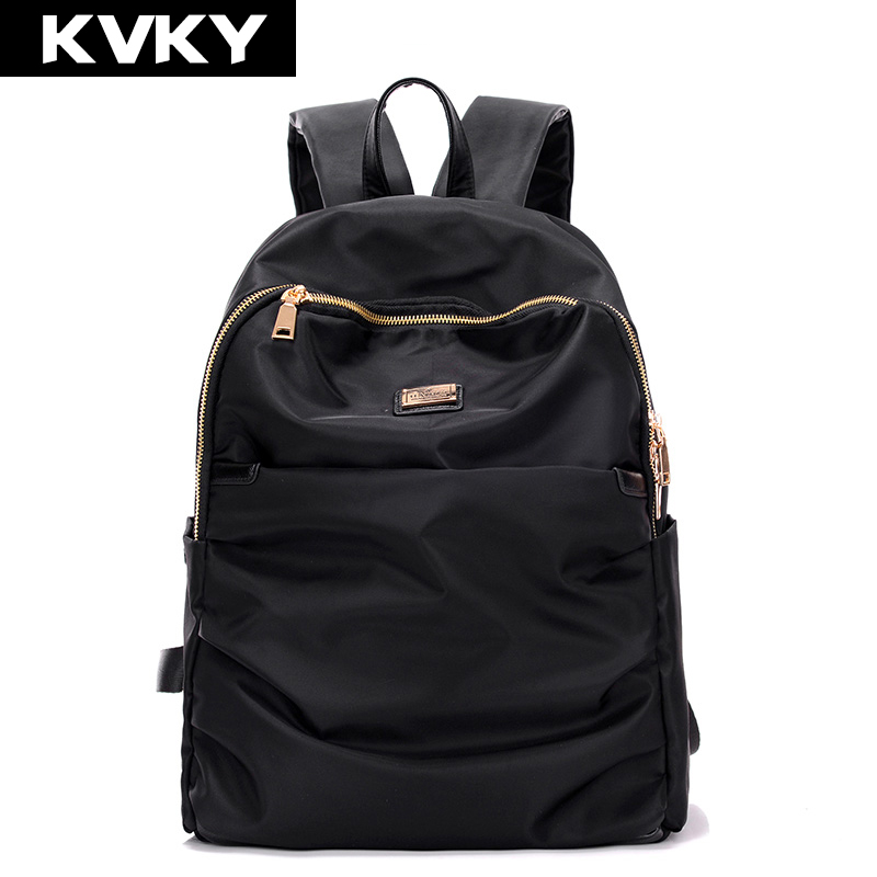 90f09c855de5 KVKY 2017 New Women Waterproof Nylon Backpack Lady Women s Backpacks Female  Casual Travel bag Shoulder Bags mochila feminina