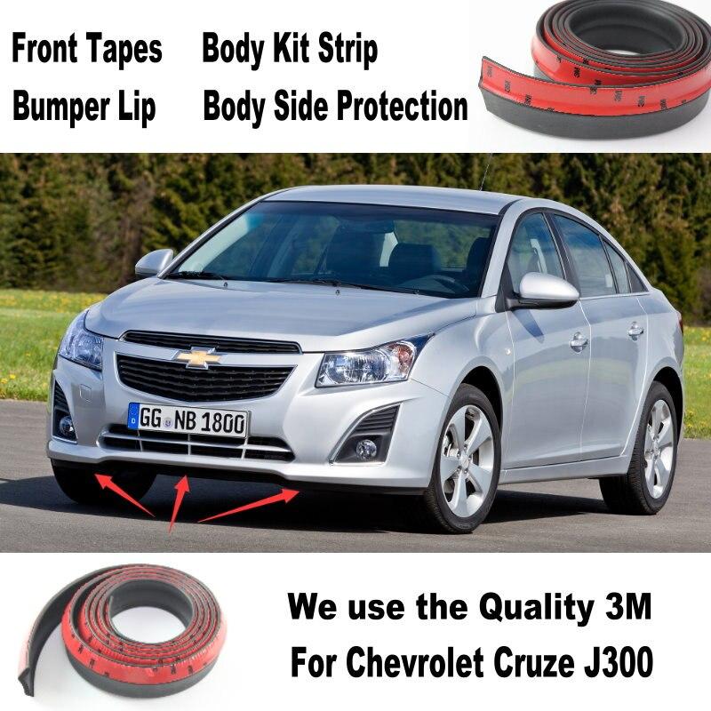 2b0eaf00b Para Chevrolet Cruze J300 2008 ~ 2014 Car Bumper Lip / fazer carro parte  inferior do corpo Kit / frente saia traseira Spoiler / defletor tira de  borracha