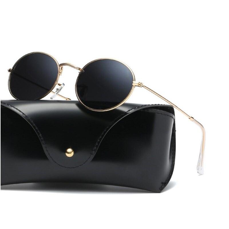 width-132 New brand Small frame sunglasses women retro marine film fashion hipsters coated colorful unisex sunglasses eyewear
