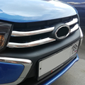 4 шт. хромированные накладки на решетку радиатора переднего бампера из нержавеющей стали для Lada Granta FL Лада Гранта ФЛ 2018 2019 2020 2021