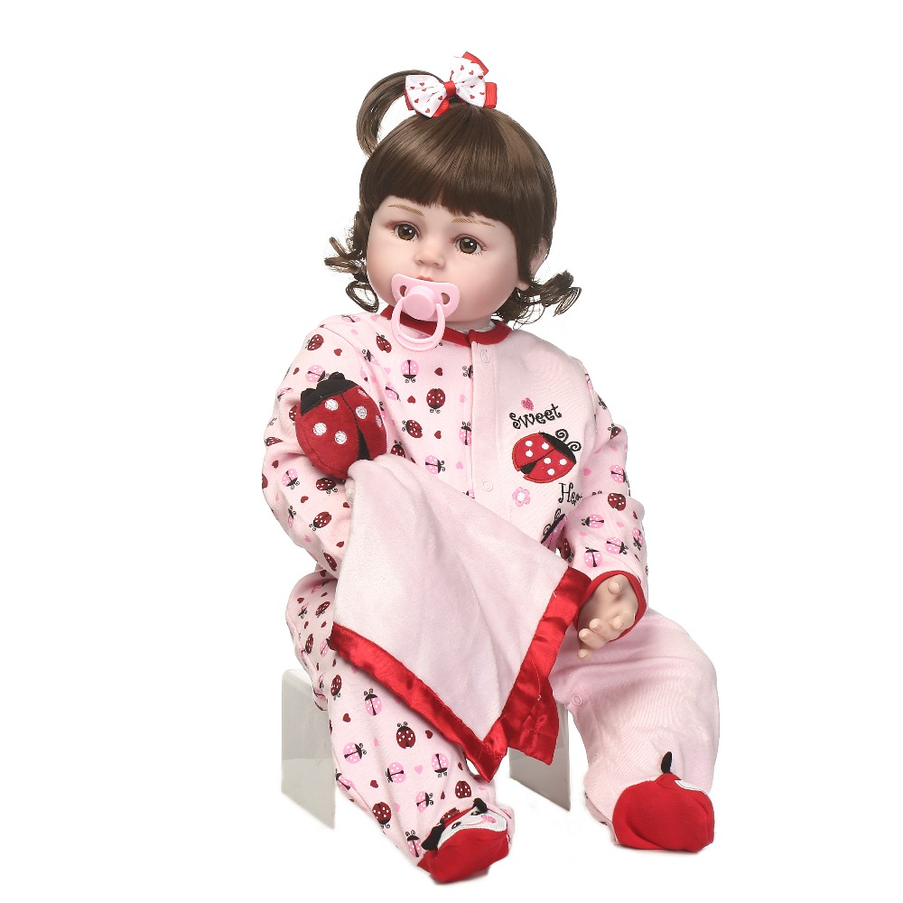 2017 new design reborn sweet baby doll soft real gentle vinyl silicone touch body and wig hair 2017 new design reborn doll cloth body vinyl silicone soft real gentle touch fashion gift for kids on children s day