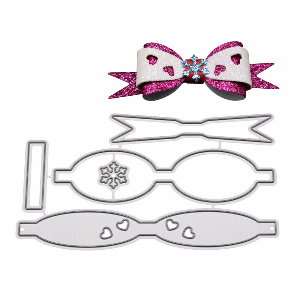 Love Shaped Bowknot Bow Metal Cutting Dies Decorative Scrapbooking Steel Craft Die Cut Embossing Paper Cards Stencils New 2018