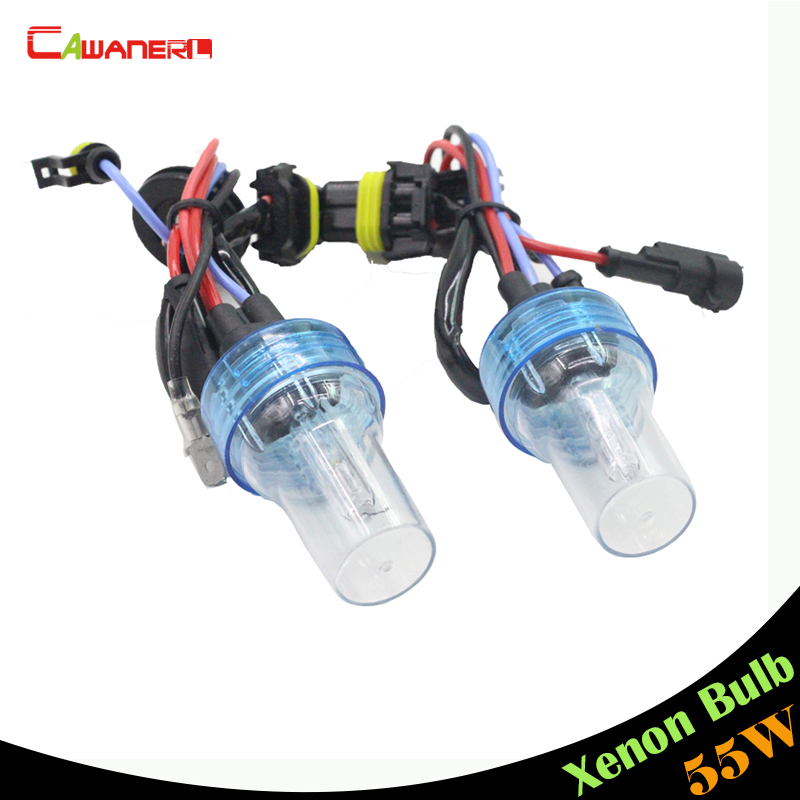 Cawanerl H1 H3 H7 H8 H9 H11 880 881 9005 HB3 9006 HB4 55W Xenon HID Bulb 4300K Warm White For Car Headlight Fog Lamp DRL
