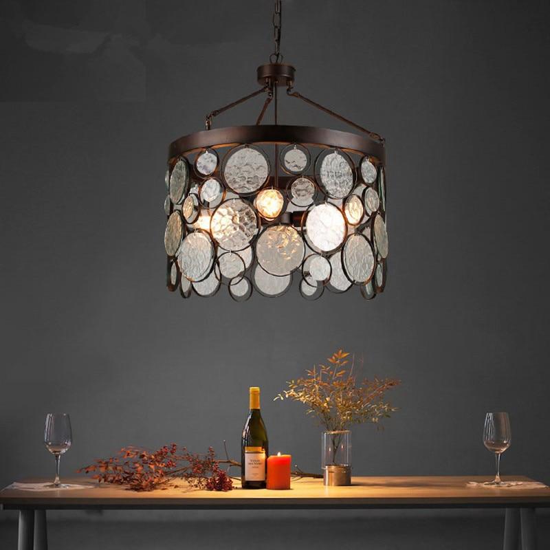 American glass pendant lights creative restaurants cafes led pendant light clothing stores bar aisle retro pendant