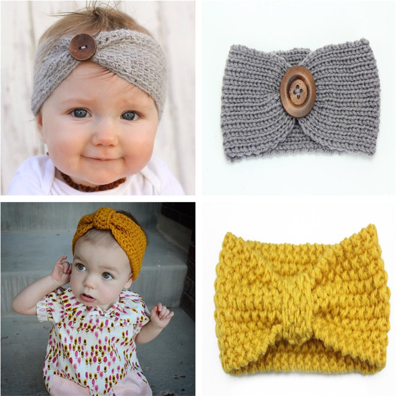 Knitting Headband For Baby : Winter baby girl knit headband headbands hair accessories