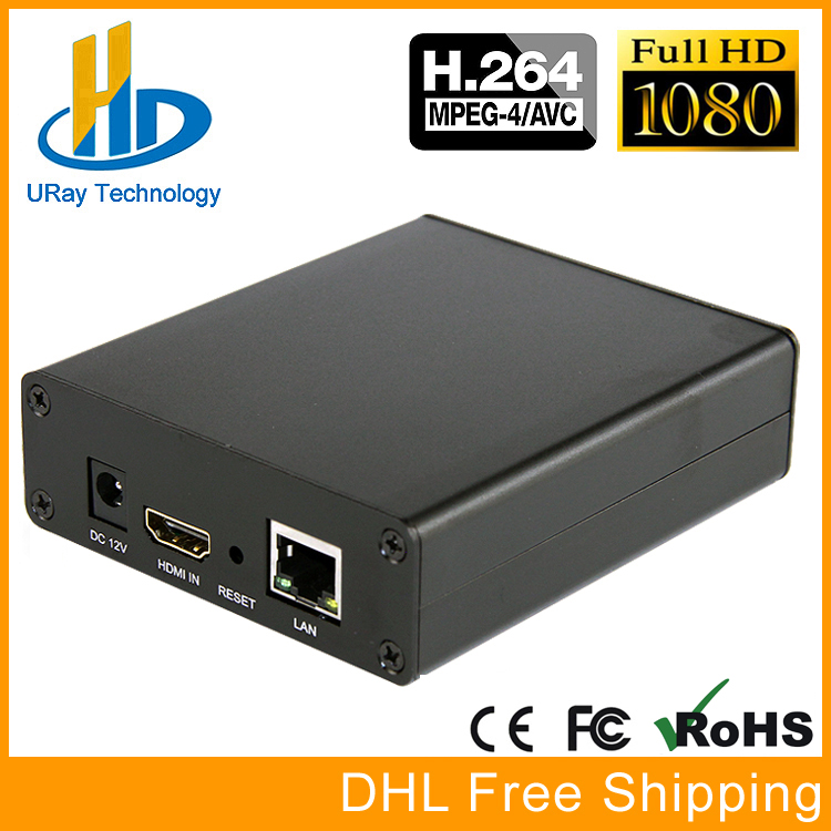 DHL gratis forsendelse H264 / H.264 HD HDMI Video Streaming Encocder HDMI IP-sender H264 RTMP til IPTV, Live Broadcast, Wowza