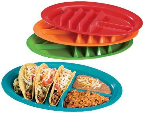 1PC Fiesta Taco Holder Stand Up Divider Plates Multi Colored Plastic Plates Taco Plates-in Cookie Tools from Home u0026 Garden on Aliexpress.com | Alibaba Group  sc 1 st  AliExpress.com & 1PC Fiesta Taco Holder Stand Up Divider Plates Multi Colored Plastic ...
