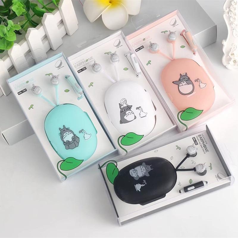 Cartoon My Neighbor Totoro in ear earphones with mic mini 3.5mm plug earphone for iphone samsung xiaomi htc stereo ear phones