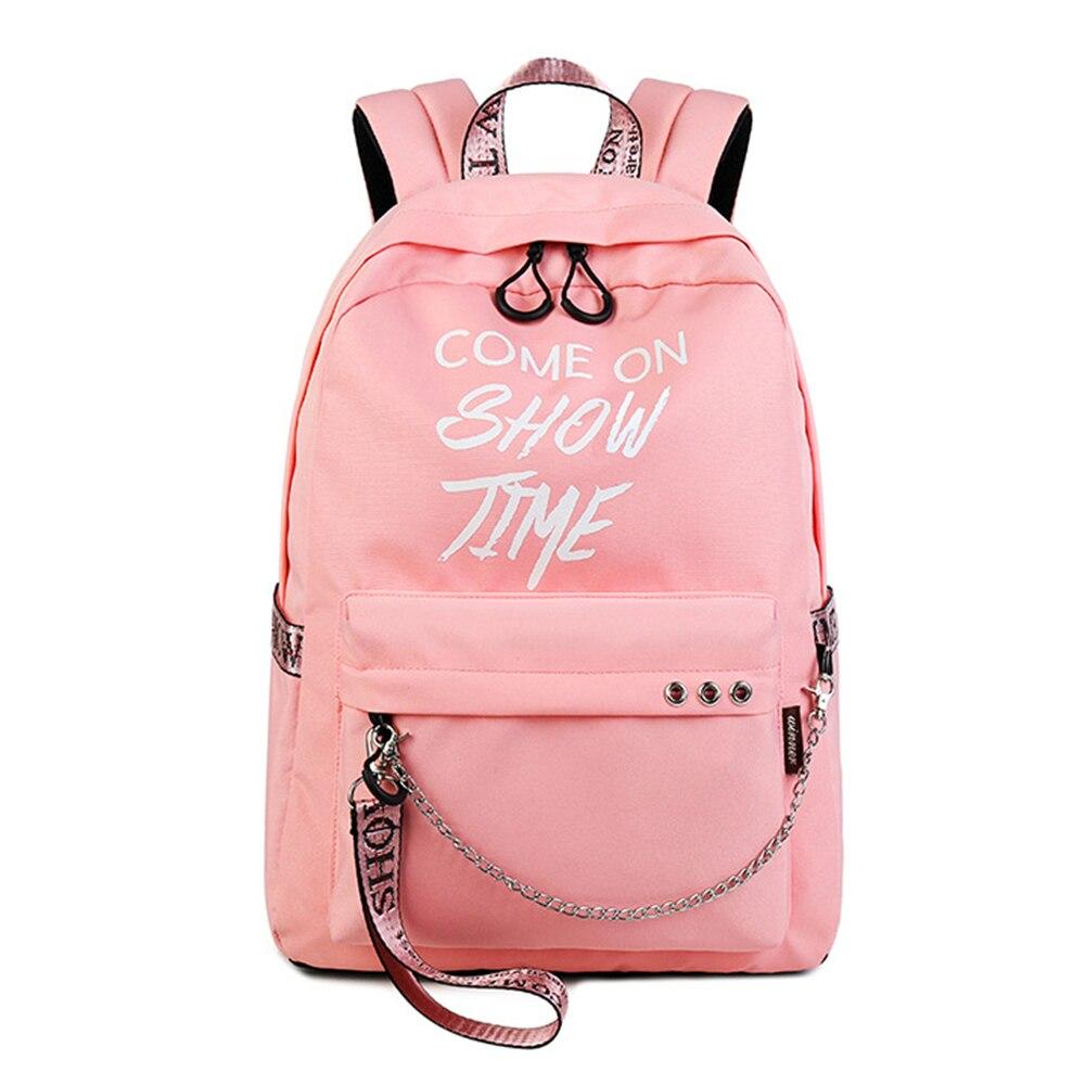 Fashion Luminous Waterproof Women Daily Backpacks College Student Bookbags Reflective Bagpack For Girls School Knapsack #4