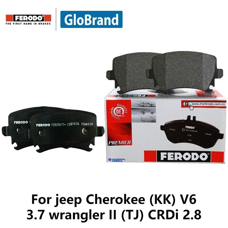 4pieces/set Ferodo Rear Car Brake Pads For jeep Cherokee (KK) V6 3.7 wrangler II (TJ) CRDi 2.8 FDB4239-D