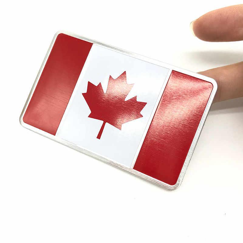 แห่งชาติแคนาดาสัญลักษณ์ Badeg อลูมิเนียม Decal สติกเกอร์รถอุปกรณ์เสริมสำหรับรถยนต์หน้าต่างรถบรรทุกกันชน Motocross รถจักรยานยนต์