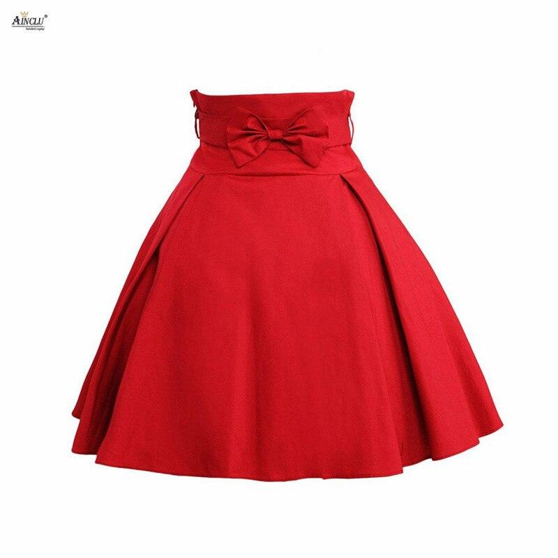 Lady Sweet Lolita jupe courte mode a-ligne Simple rouge foncé noeud coton taille haute filles Lolita jupe femme XS-XXL