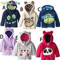 Otoño prendas de Vestir Exteriores de Los Niños Chaquetas de Invierno de Dibujos Animados Lindo Bebé Ropa de Niño Suéter Encapuchado Cardigan Abrigos Chica 0-5año BC1180