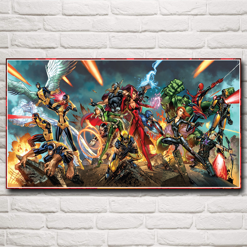 Marvel Comics X-Men The Avengers Wolverine Thor Movie Art Silk Poster Home Decor Painting 11x20 16x29 20x36 Inch Free Shipping