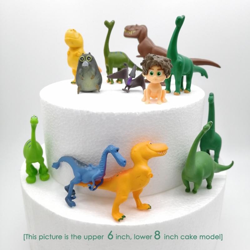 12pcs/set Dinosaur Cake topper Birthday Decoration Baby shower boy party Baking decoration kids toys Jungle