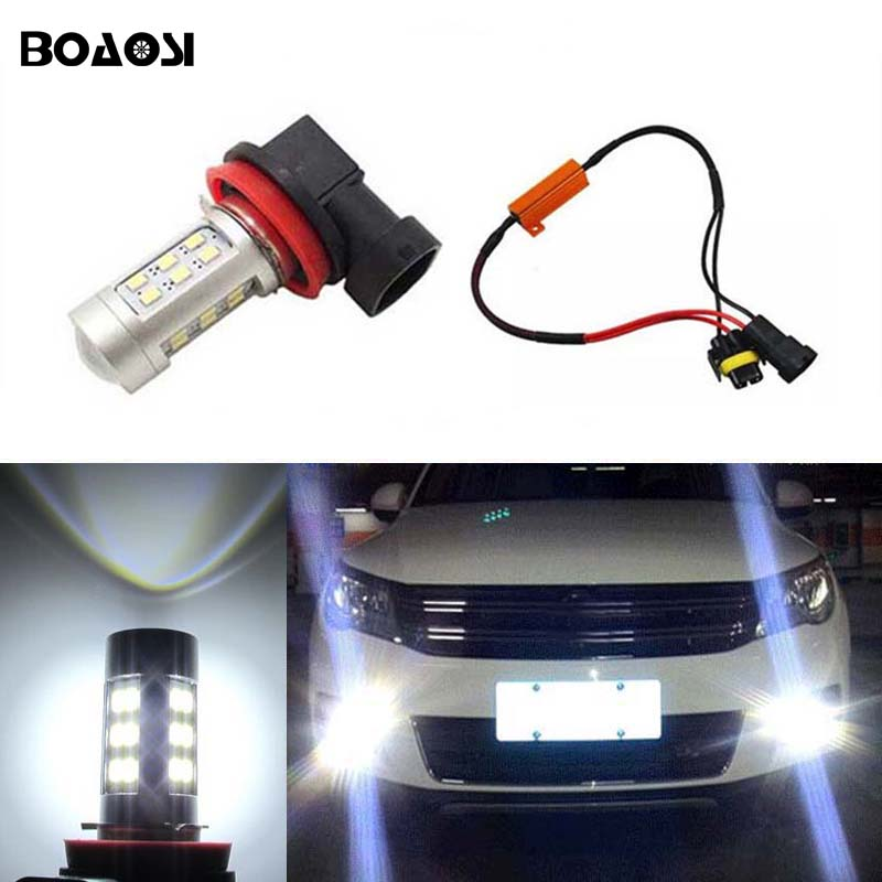 BOAOSI 1x 9006/HB4 Car Fog Lamp Driving Light Bulbs No Error For VW Golf 6 MK6 2009-2012 T5 Transporter 2003-2016 Scirocco 08-on free shipping new pair halogen front fog lamp fog light for vw t5 polo crafter transporter campmob 7h0941699b 7h0941700b