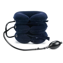 Inflatable Cervical Care Office Neck Health Therapy Tool Portable Traction Device For Home Medical Correction Three Layer Sale hanriver the new nursing waist yoga therapy tool strength support towing cervical traction apparatus