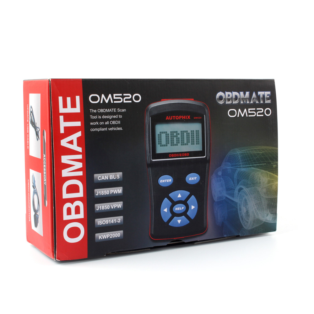 OBDII Code Reader Automotive Scanner OBDMate OM520-21