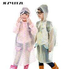 Fashion EVA Raincoat With School Bags Cool Children RainCoat Kids rain pocket Jacket Waterproof Rain Coat Suit