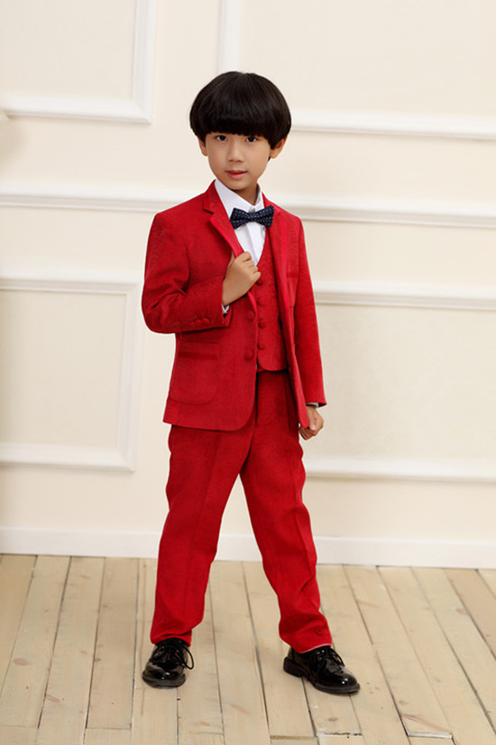 Boys Red Blazer Fashion Ql