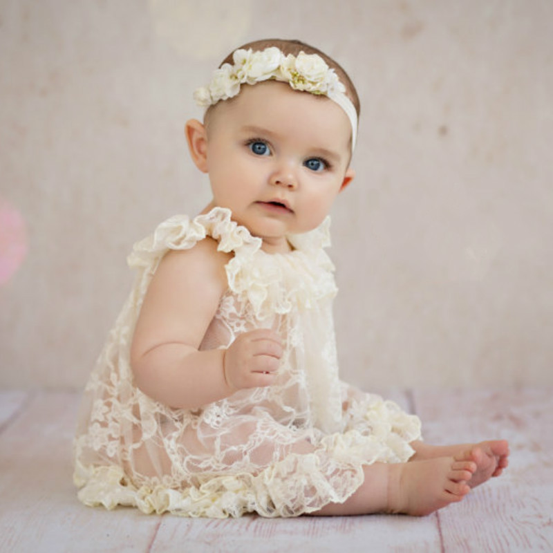 2018 New Born Photography Props Embroidery Lace Baby Romper Jumpsuit Newborn Photo Shoot Accessories Silk Girl Costumes Romper newest newborn photography props baby romper studio photography accessories lace romper back tie girls outfit baby girl lace