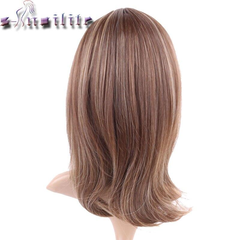 S-Noilite 100% Real Natural Hair Straight Ljusbrunt Blont Blandning - Syntetiskt hår - Foto 4