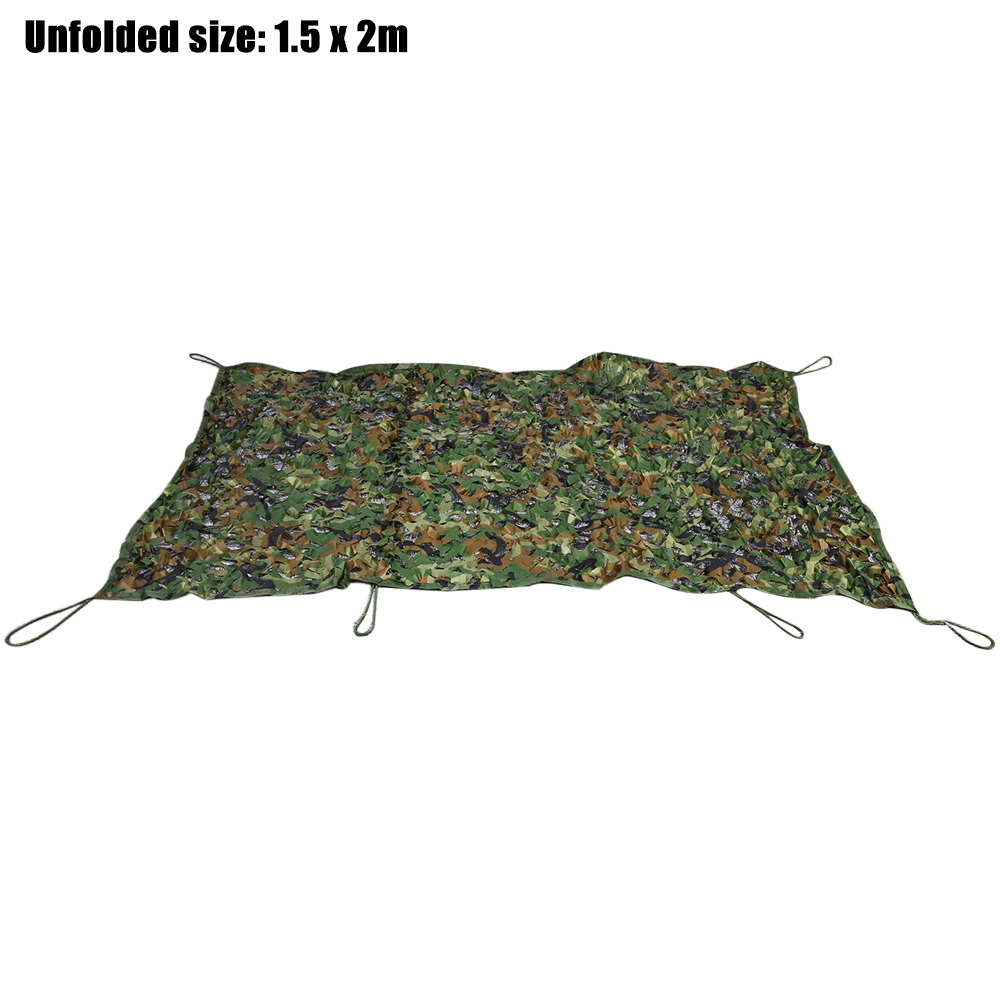 hunting camping camo net 1 5m x 2m 2m x 3m woodland military car cover hunting camping tent. Black Bedroom Furniture Sets. Home Design Ideas