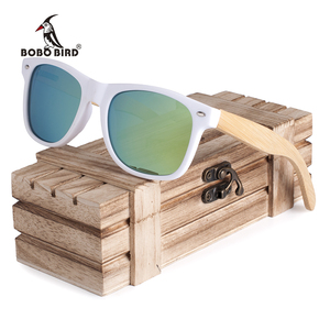 New Luxury Coated Sunglasses for Men and Women Bamboo Wood Holder Polarized Lens Sunglasses with Wood Box Driving Sunglasess(China)