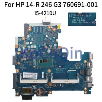 KoCoQin Laptop motherboard For HP 14-R 246 G3 I5-4210UMainboard 755835-001 755835-001 760691-001 ZS040 LA-A993P SR1EF 1