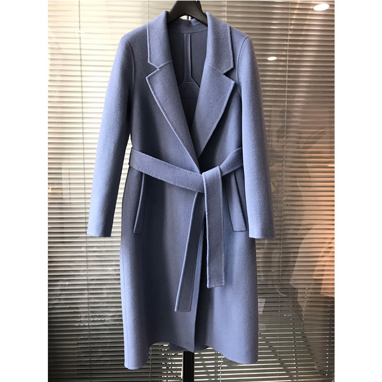 Double faced coat Women s 2018 autumn and winter new double faced coat double breasted woolen