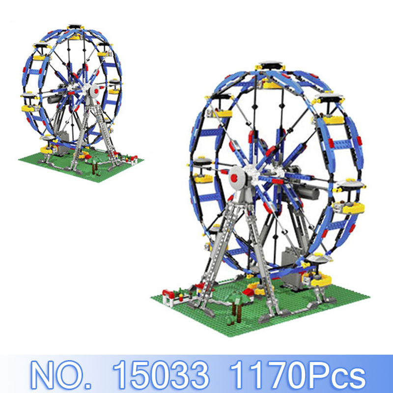 Lepin 15033 City Street Figure 1170Pcs Three-in-One Electric Ferris Model Building Kits Blocks Bricks Sets Compatible 10247 Toys 15033 1170pcs building classic series the three in one electric ferris wheel set building blocks compatible with 4957 toy lepin