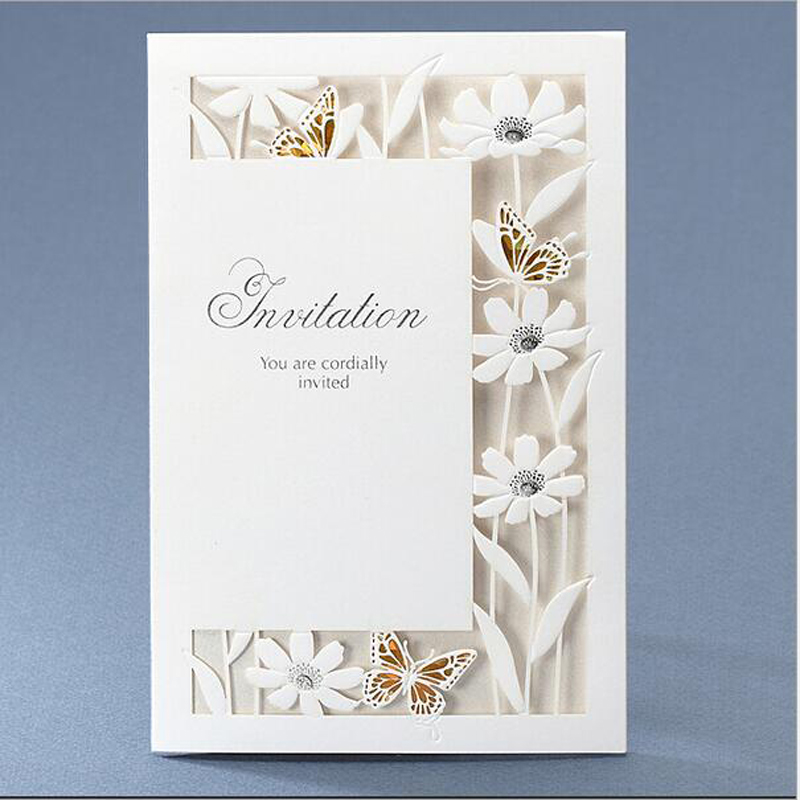wedding invitation unique laser cut butterfly wedding invitations ...