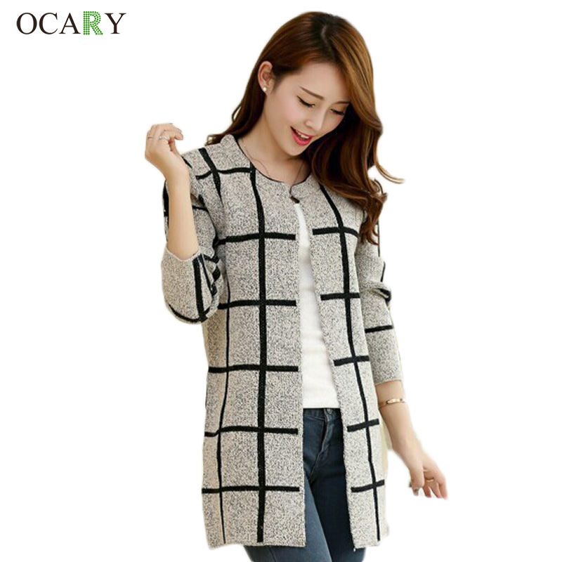 Loose Long Cardigan Women Knitted Sweaters For Ladies Size Striped ...