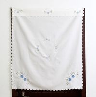 1pcs Pastoral Style Flower Embroidered Short Kitchen Curtain Decorative Finished Curtain Cabinet Curtain For Living Room