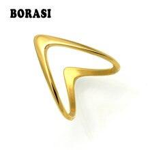 Borasi модные ювелирные изделия v кольцо для женщин золотой