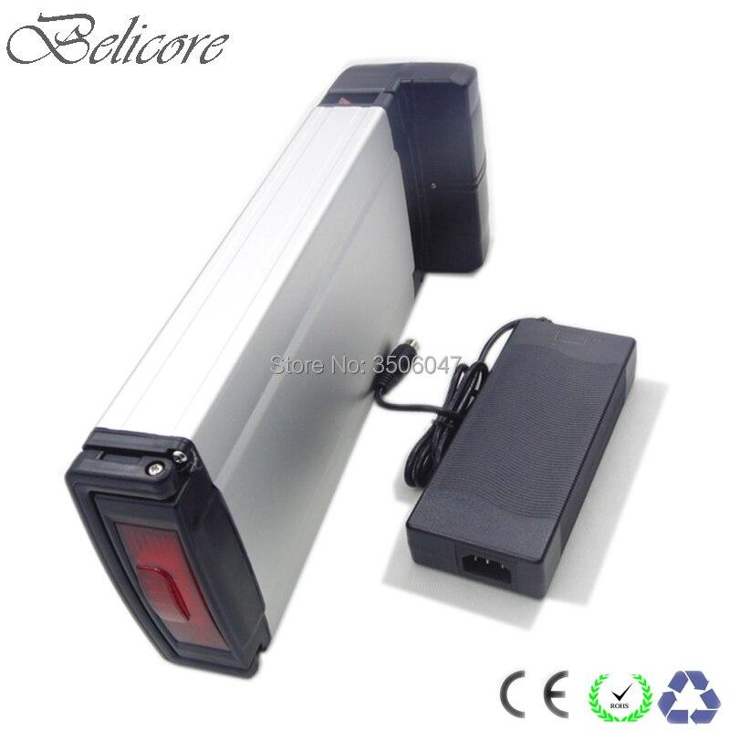 free shipping 36v 10ah 10.4ah 11.6ah 12ah 12.8ah 13ah 13.6ah 14ah rear rack style electric bike battery
