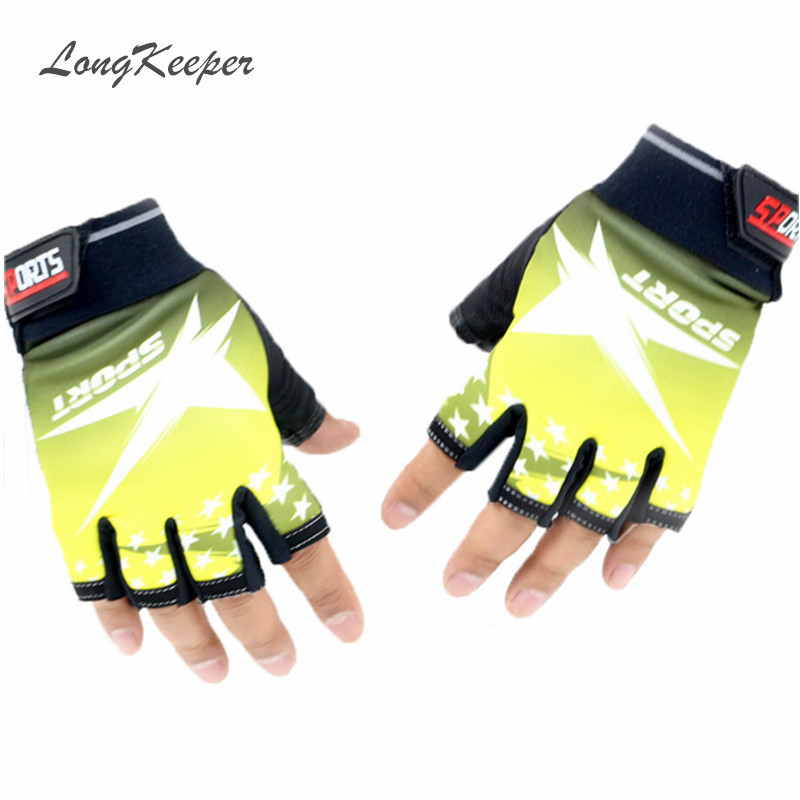 LongKeeper 2016 New Designer Women Men Sport Gloves Fingerless Mittens  Gym Gloves for Fitness Work Out Half Finger Guantes