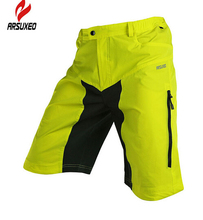 цена на ARSUXEO Outdoor Men MTB Padded Sports Wear Mountain Road Bike Ciclismo Shorts Bicycle Santic Cycling Shorts Pants