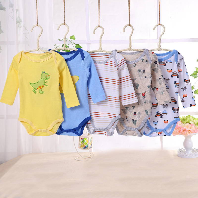 2pcs Cotton Baby Rompers Summer Baby Girl Clothes Baby Boy Clothes Newborn Baby Clothes Striped Roupas Bebe Infant Jumpsuits
